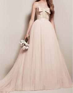 White By Vera Wang Matelasse Floral Pink Blush Gold Wedding Dress Size 0 Xs