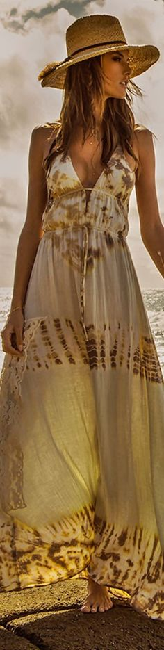 Boho Style ~ bohemian boho style hippy hippie chic bohème vibe gypsy fashion indie folk dress #gypsyfashion,