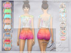 Bright denim shorts from a set of Bright summer for young simok. There are 5 colors and 4 normal gradient colors. Emphasize the slender legs of your characters. Found in TSR Category 'Sims 4...