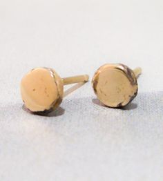 Made from recycled gold: our two favorite things in one pair of earrings!
