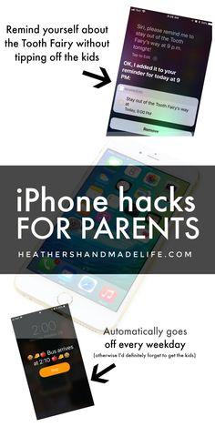 iPhone hacks for parents {Heather's Handmade Life} #lifehack #iphone #parenting