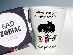 Funny Mug, Capricorn Zodiac Gift, Friendship, Coworker,  Rude, Cuppa, Personalized Mug, Geeky, Humor