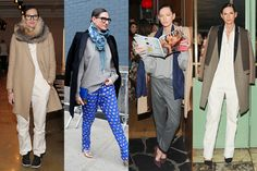 """HOW TO DRESS FOR FASHION WEEK LIKE JENNA LYONS It isn't news that Jenna Lyons has enviable style. The J.Crew creative director's signature """"borrowed from the boys"""" looks have been on our fashion radars for a while now, but her recent Fashion Week wears triggered an extra spurt of that I-want-to-be-you feeling in us. From an array of fancy pants to an all-white jumpsuit reworked for different occasions, Lyons knows how to do Fashion Week right. See all the no-fuss looks you need to copy now."""