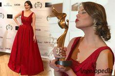 Miss Earth 2005 Alexandra Braun of Venezuela wins the Best Actress Award for her movie UMA
