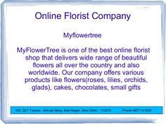 my-flowertree-sendflowersonline by minakshiss via Slideshare
