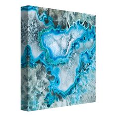 """Portfolio Canvas Decor """"Ice Crystal Geode"""" by GI Artlab Painting Print on Wrapped Canvas"""