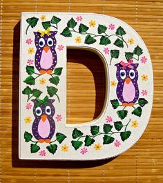 Hey, I found this really awesome Etsy listing at https://www.etsy.com/listing/247092941/nursery-decor-painted-letter-d-with