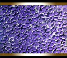 Modern Purple Gray Flowers Heavy Impasto Textured palette Knife Wall Art Floral Acrylic Painting by Angela Cox.  Size 36x 24 x 1.4  This listing is for a MADE TO ORDER ORIGINAL painting of a previously sold one, seen in the images above. Your painting will be the same size, and VERY SIMILAR composition/colors. Will take approximately 10 - 14 days to complete and ship.  Gallery Back wrapped cotton stretched canvas , painted sides, ready to hang.  Medium: acrylic,oil , impasto medium…