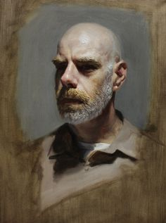 JULIAN BP (PORTRAIT AWARD WINNER 2014), ALLA PRIMA PAINTING BY LOUIS SMITH. SMITH IS A CLASSICALLY TRAINED PORTRAIT PAINTER, STUDIED FOR 3 YEARS IN FLORENCE, ITALY, AND IS NOW LIVING AND WORKING IN MANCHESTER, ENGLAND.