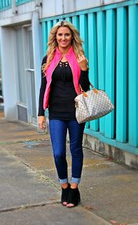 The Gaudy Mom: Pink Puffer Vest