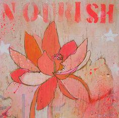Lotus Nourish Canvas Print by Jennifer Mercede 24X24