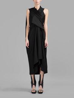 トルネードワンピース RICK OWENS Dresses | RICK OWENS リックオウエンス | レディース - ワンピース・オールインワン - 膝丈ワンピース | BLACK | 海外通販ならLASO(ラソ)