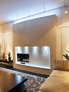 Living Room Modern Fireplace Surrounds Design, Pictures, Remodel, Decor and Ideas - page 12