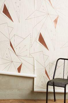 Deco Angles Wallpaper - anthropologie.com