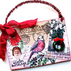 *   A Brand New Christmas Rubber Stamp - Holiday Wishes Flying Your Way - Save 10%
