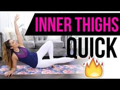 """This is an INNER THIGH specific workout that features 2 of my brand new POP Pilates signature moves: The Clapper and The U Uplifts!   If you want to get stronger, leaner legs, these moves will do it for you without using ANY equipment! You can do my """"Quick Burn Inner Thigh"""" workout from home, when you're traveling, or at the gym - it's so versatile!"""