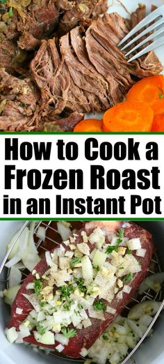 Got a Frozen Roast? Here's How to Cook Tender it in an Instant Pot! Cooking a frozen roast in Instant Pot is possible! You can still get a tender, flavorful, piece of beef even if it is not thawed out beforehand. Roast Beef Instant Pot Recipe, Instant Pot Pot Roast, Instant Pot Dinner Recipes, Chuck Roast Recipes, Pork Roast Recipes, Pork Pot Roast, Instant Pot Pressure Cooker, Pressure Cooker Recipes, Potted Beef Recipe
