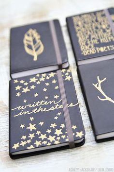 Simple Sharpie Journals and Matching Gift Wrap
