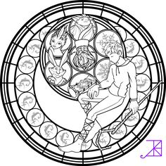 Jack Frost Stained Glass Coloring Page by Akili-Amethyst.deviantart.com on @deviantART