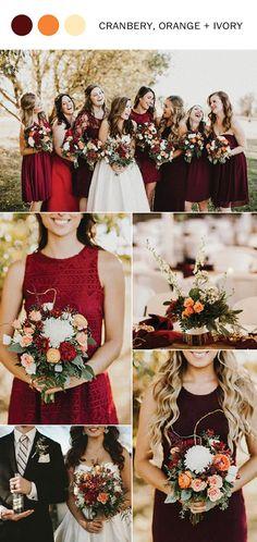 10 Fall Wedding Color Ideas You'll Love for 2017 l #weddingideas