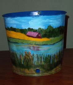 Hand Painted Maple Syrup Sap Bucket