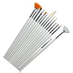 15 pz/set nail art uv gel design della penna della pittura brush set per salon manicure tips strumento spedizione gratuita