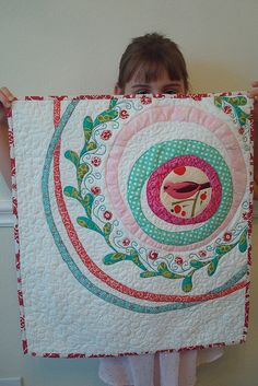 Radial applique mini quilt