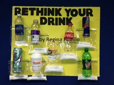 Rethink your drink. Sugary drinks makes your BELLY FAT!