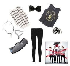 """""""Amnesia//5 Seconds Of Summer"""" by sayandycanfly on Polyvore featuring rag & bone, TOMS, Brandy Melville, Boohoo and claire's"""