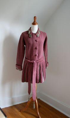 AMAZING 1920 'Honeysuckle Rose' Knitted Tunic Sweater Coat
