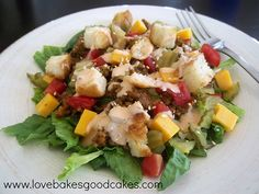 Love Bakes Good Cakes: Big Mac Salad - Sing It With Me ...