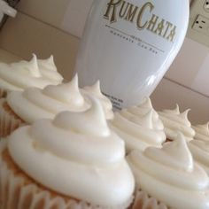 Rum Chata Cupcakes-might have to try these for the next adult get together :)
