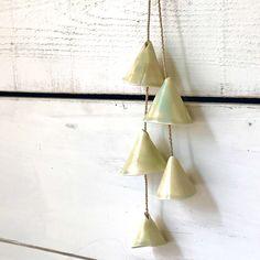 Blij om dit item uit mijn #etsy shop te delen: Turquoise Porcelain Bells - Ceramic Home Decor - Ceramic Garden Decor - Ceramic Wallhanging - Handmade Gift Decorative Bells, Ceramics, Drop Earrings, Home Decor, Etsy, Ceramica, Pottery, Decoration Home, Room Decor