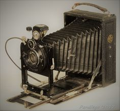 CERTO Certoruf - or plates, folding camera (double extension) with wooden body Old Cameras, Vintage Cameras, Plate Camera, Folding Camera, Landline Phone, Filmmaking, Nikon, Third, German