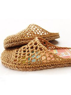 These cute slippers are made using Raffia, a light and strong fiber. It is perfect for footwear, not as soft, pliable or stretchy as normal yarn but amazingly comfortable. Instructions are included for the raffia and a size 3 crochet thread. Step-by-...