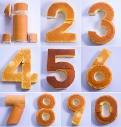 Cómo hacer tartas fáciles de números - Torten, Kuchen etc - Cake Decorating Techniques, Cake Decorating Tips, Food Cakes, Cupcake Cakes, Cake Shapes, Number Cakes, Cake Tutorial, Savoury Cake, Creative Cakes