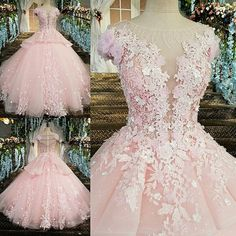 May 2020 - Puffy Pink Debutante dresses.**Rush order please contact us ** Processing time business days after payment Pretty Quinceanera Dresses, Cute Prom Dresses, Ball Dresses, Pretty Dresses, Bridal Dresses, Beautiful Dresses, Wedding Gowns, Ball Gowns, Pageant Dresses