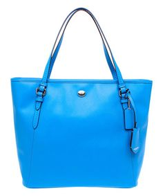 Look what I found on #zulily! Cerulean Zip Peyton Leather Tote by Coach #zulilyfinds