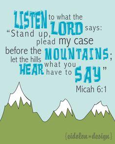 Micah 6:1