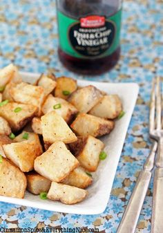 Edit: these were good.  I peeled my potatoes and used about 1 TB salt in the brine.  I would make them again.  Roasted Salt & Vinegar Potatoes