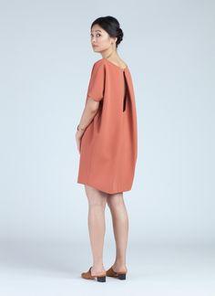 Coral Angle Mini Dolman Open Back Dress