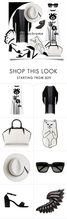 """Make it Monocrhome"" by kari-c ❤ liked on Polyvore featuring Victoria, Victoria Beckham, WithChic, Alexander Wang, Calypso Private Label, Yves Saint Laurent, Roberto Cavalli and monochrome"