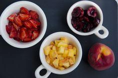 Summer fruits before.