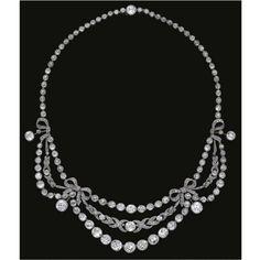 Diamond necklace, circa 1910. Photo: Sotheby's