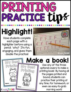 Printing Practice allows your students to practice their best handwriting skills by focusing on one letter at time.   handwriting practice   letter printing worksheets   letter printing practice worksheets   printing practice kindergarten   teaching printables   printable worksheets for kindergarten  printable worksheets for preschool