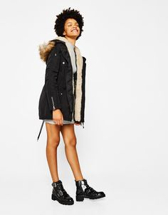 Discover the lastest trends in Coats with Bershka. Sephora, Punk, Coat, Collection, Women, Style, Fashion, Swag, Moda