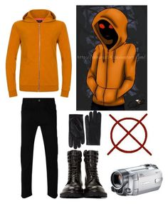 """HOODIE (creepypasta)"" by anna-fuentes-sykes ❤ liked on Polyvore featuring Gucci, Paul Smith, Yves Saint Laurent, AGNELLE, hoodie, creepy, creepypasta and marbleHornets"