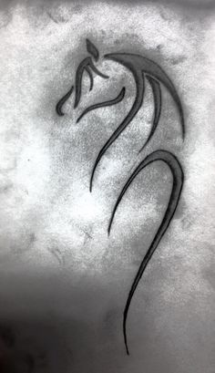 Horse tattoo design .. thoughts for where to put it? above right ankle? #celtic #tattoos