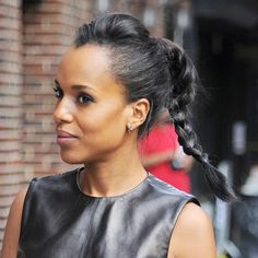 #THELIST: THE HIGHER THE HAIR The closer to It-girl status: #3 Punk Plait on Kerry Washington