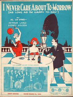 1924 Jan Garber Jazz Sheet Music (I Never Care About Tomorrow) | eBay
